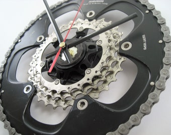 SRAM Powerglide Time Shift Wall Clock Chainring Cassette Chain Sprocket,  great gift for the racing cyclist in your life!