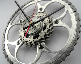 Shimano 105/TA Specialties/SRAM Time Shift Wall Clock Chainring Cassette Chain Sprocket,  great gift for any road cyclist!