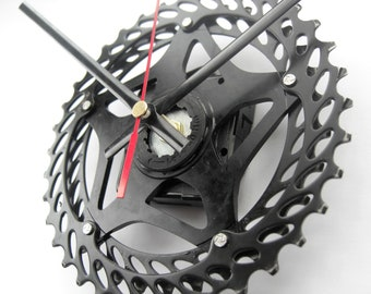 SRAM MTB Time Shift Upcycled  Wall Clock Bicycle Cassette Sprocket, great gift for any Mountain Biker!