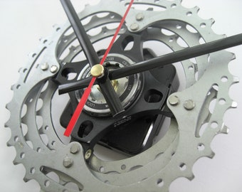Shimano SLX Time Shift Wall Clock Bicycle Cassette Sprocket, great man cave addition!