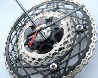 Shimano Ultegra / KCNC Cobweb /KMC Time Shift Wall Clock Chainring Cassette Chain Sprocket,  great gift for cyclocross rider!