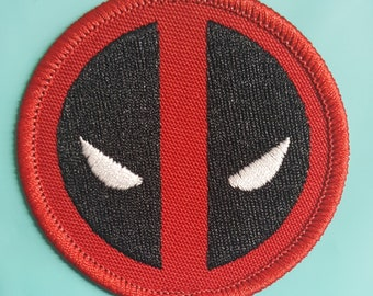 kawaii Patch Deadpool chibi Patch embroidery Various sizes from 2 in to 13.8 comics patch Iron On Patch applique Embroidered