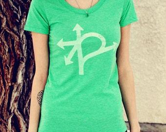 Confusion Corner Shirt, Screen Printed in Winnipeg, Women's Tri-Blend T-shirt