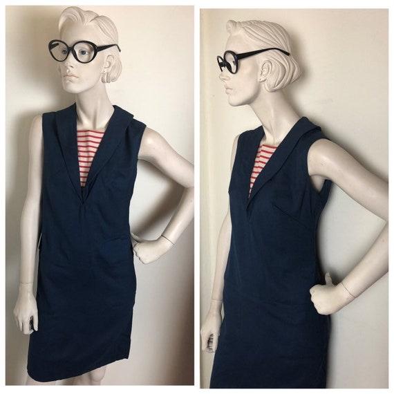 60s Mod sailor shift dress// Nautical sailor sheat