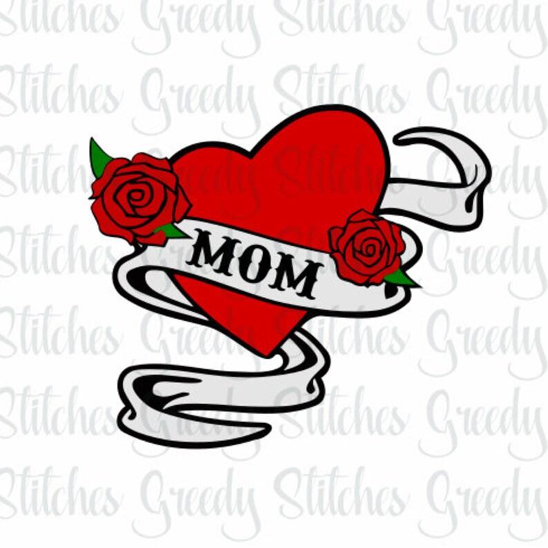 Mamma Tatuaggio Svg Dxf Eps Png Wmf Festa Della Mamma Etsy