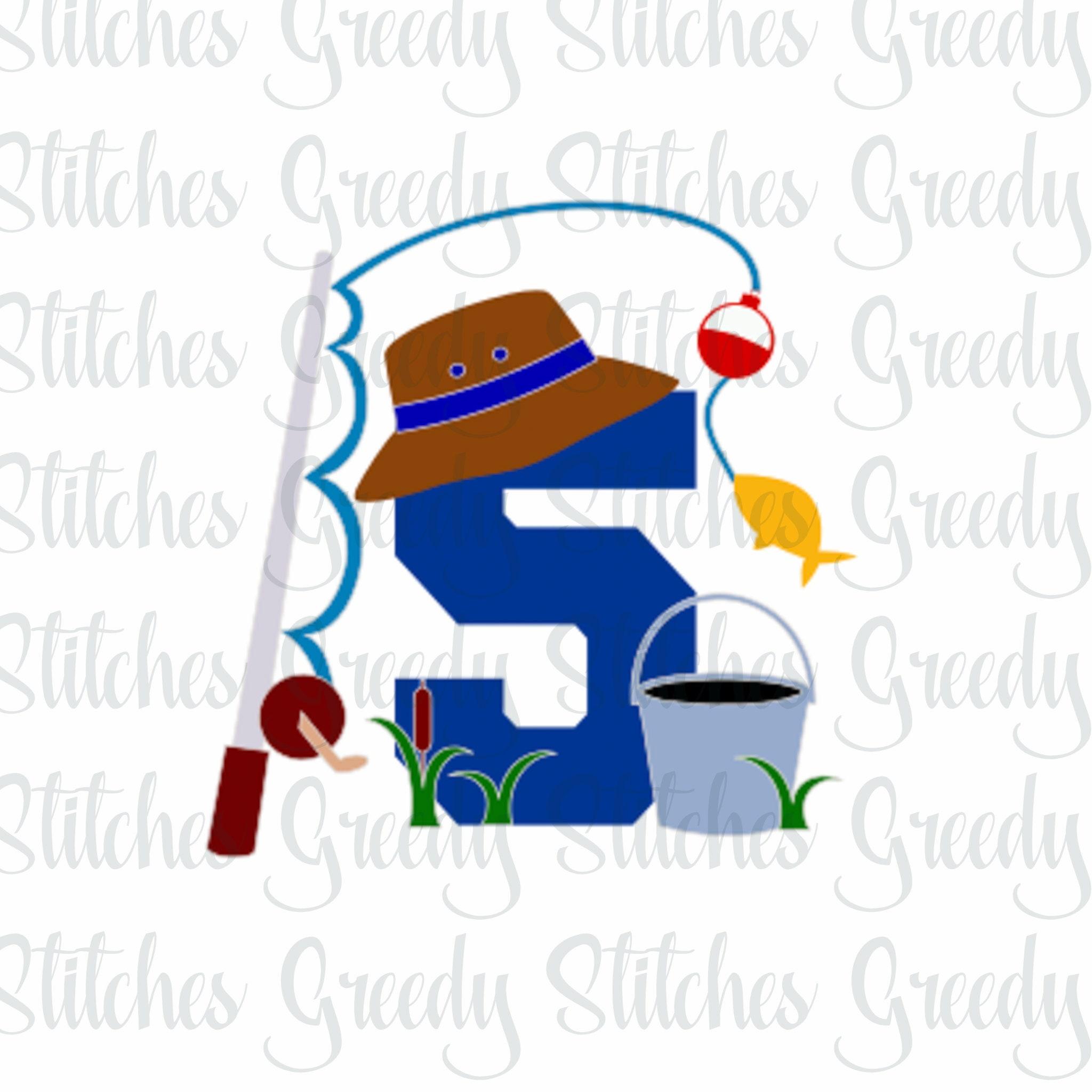 Download Fifth Birthday Fishing Fishing Birthday Svg Eps Png Etsy