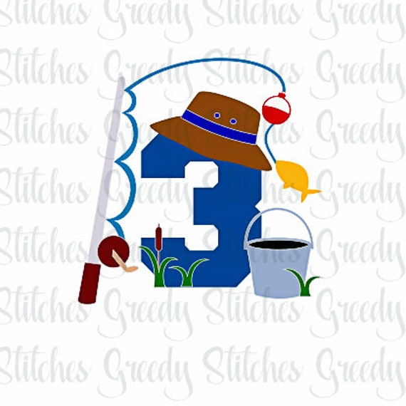 Download Fishing Third Birthday Svg Dxf Eps Png And Wmf Fish Svg Etsy