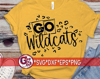 Go Wildcats SvG | Go Wildcats svg dxf eps png. Wildcats SvG | Go Wildcats Leopard DxF | Wildcats Leopard SvG | Instant Download Cut