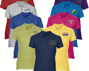 Men S Custom Embroidered Polo Shirt Customized Logo Polo Etsy