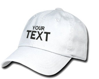 Customize White Hat Personalized Custom Hat Your text here Monogrammed Hat  Personalized Gift Custom Dad Hat Choose your text Monogrammed Cap 96f39918ce0f