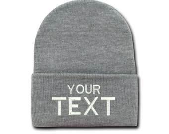 8aeb2f148e3 Custom Text Cap Personalized Gift for him Unisex Hat Tumblr Beanies Winter  Mens Hats Gift for her Custom Embroidery