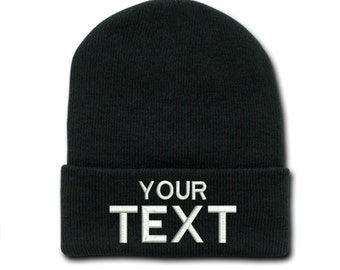 ab7402bbfcf Custom Text Beanie Cap Hat Customize a Hat Winter Personalized Cap Tumblr  Hats Unisex Hat Customized Gift Cool Hats