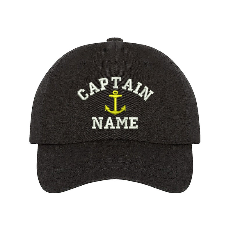 9f878cc10821d Custom Embroidered Personalized CAPTAIN Dad Hat Add your Name