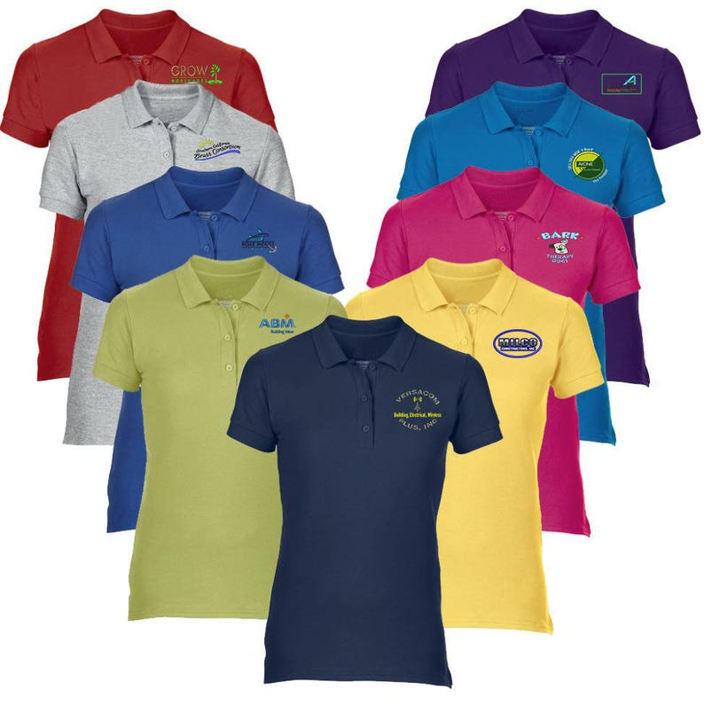 e29279a481f 1 DOZEN Women s Custom Embroidered Polo Shirt Customized