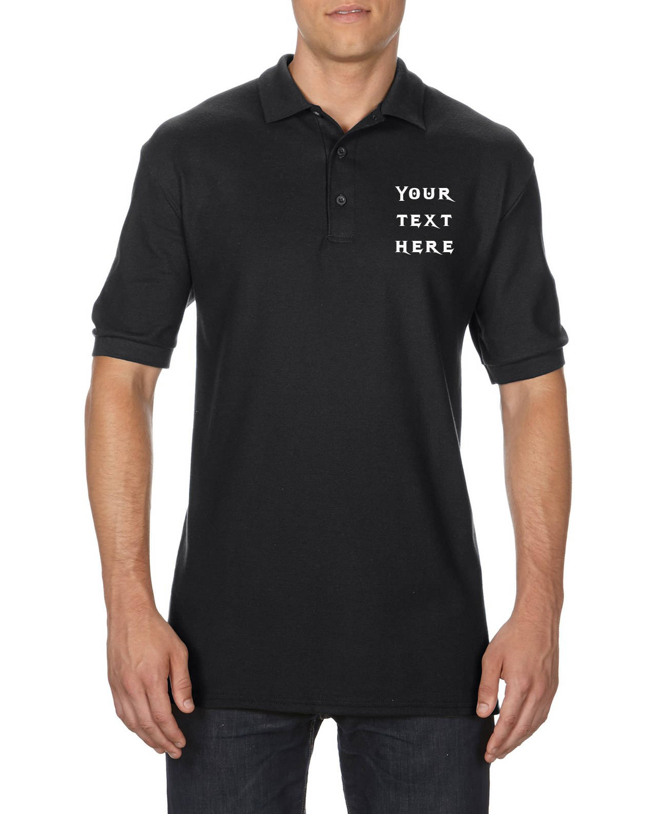 Mens Custom Embroidered Polo Shirt Customized Family Etsy