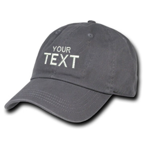 Customize Gray Hat Personalized Custom Hat Your text here  6d67a89aca28