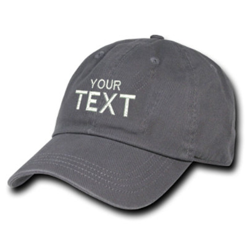 f8ef1a3997a01 Grey Dad Hat Custom Embroidered Baseball Cap Your Own