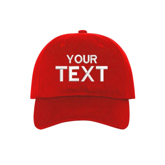 Custom Hats Embroidered Baseball Cap Your Own Personalized  291ea873371