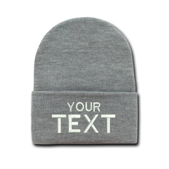 Custom Text Cap Personalized Gift for him Unisex Hat Tumblr Beanies Winter  Mens Hats Gift for her Custom Embroidery