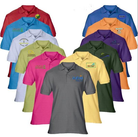 12 Men S Custom Embroidered Polo Shirtcustomized Etsy