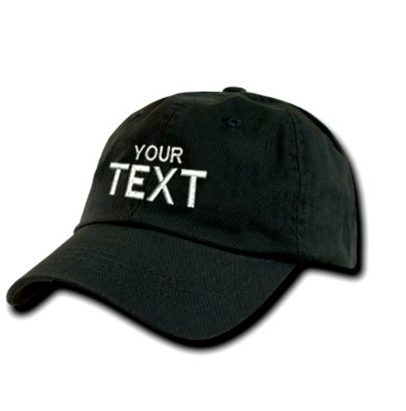 CUSTOMIZE Personalized Custom Hat Monogrammed Your Text Here  cc1c2524d264