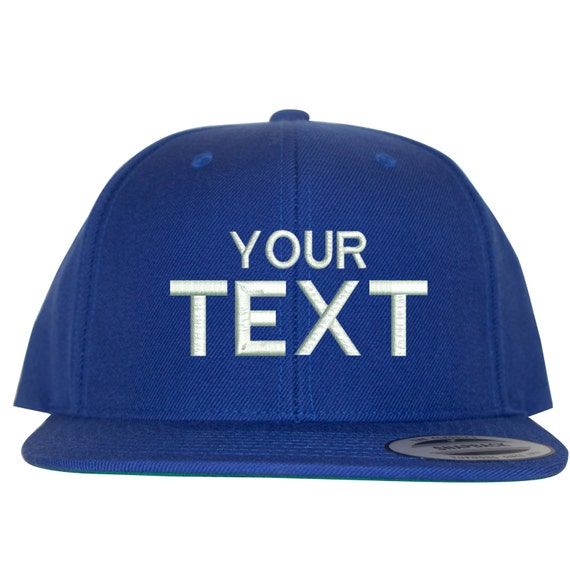 c5ab89bc3f4 Royal Blue Custom Embroidered Snapback Your Own Personalized