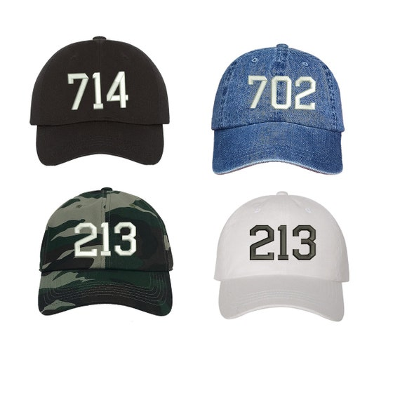 29df716583f Custom Area Code Dad Hat Embroidered Dad Hat Your City Custom