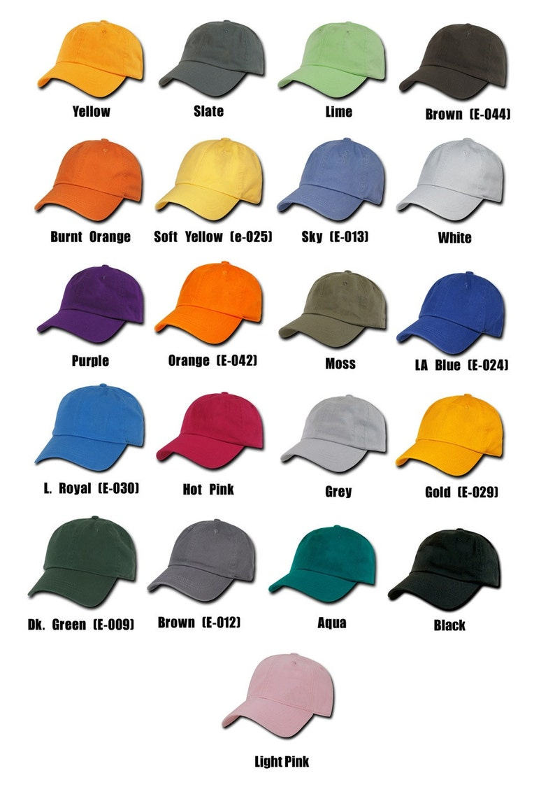 a12a900f3 Embroidered Hats, 12 Hat Custom Embroidery Dads Hats with your logo or  design