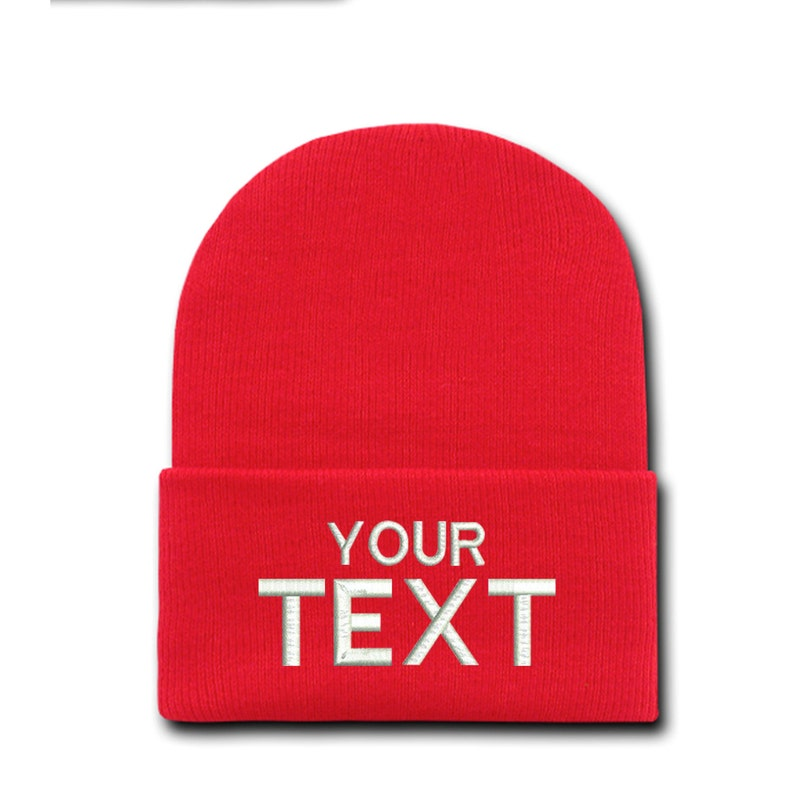9df54b13a7873 Custom Embroidered Winter Beanie Hat Cap Personalized Gift