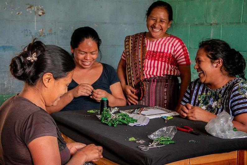 Sun Beaded KeychainHandmade in GuatemalaFair WageSupporting Mayan Families