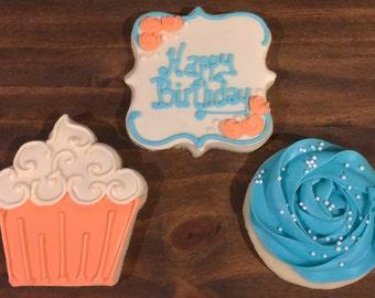 Birthday Themed Sugar Cookies