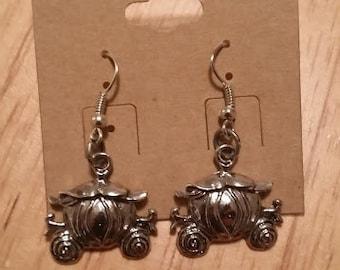 Cinderella Pumpkin Carriage Earrings