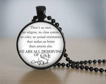 Sandra Bullock Unique Quote Pendant Necklace or Keychain