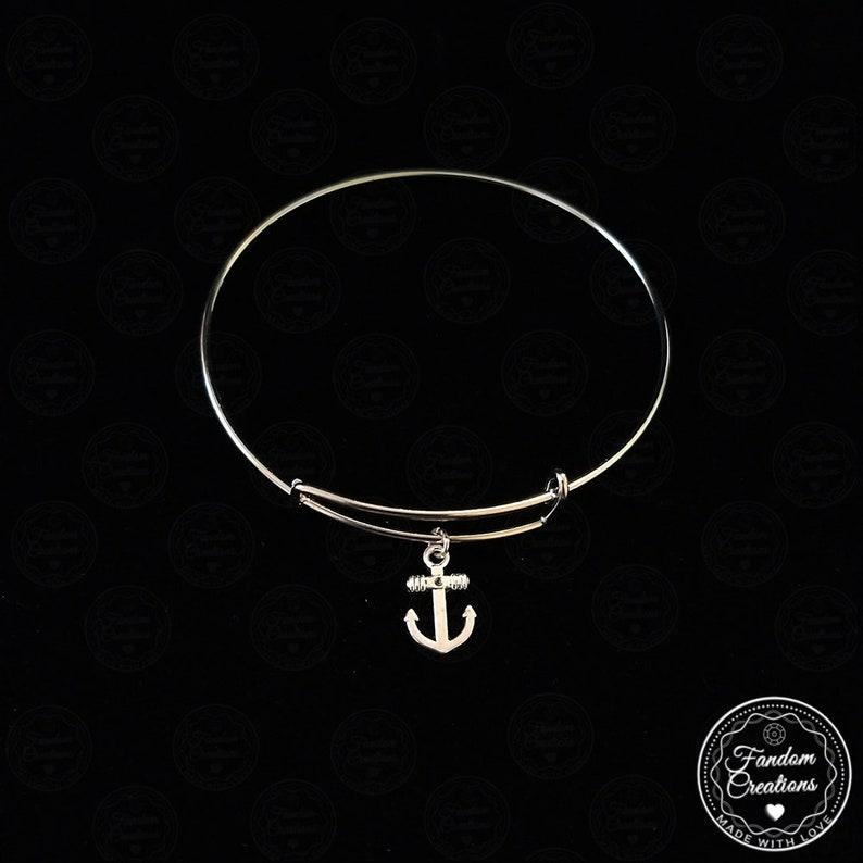 Adjustable Be Your Own Anchor Scott McCall Bangle Bracelet