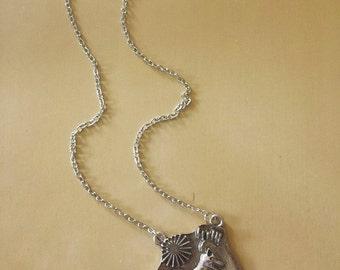 Allison Argent Wolf Family Necklace