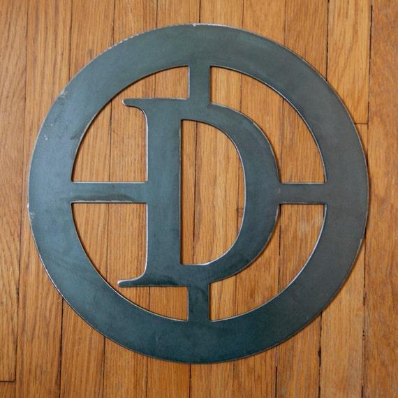 letter d monogram 12x12 cnc plasma cut letter d etsy