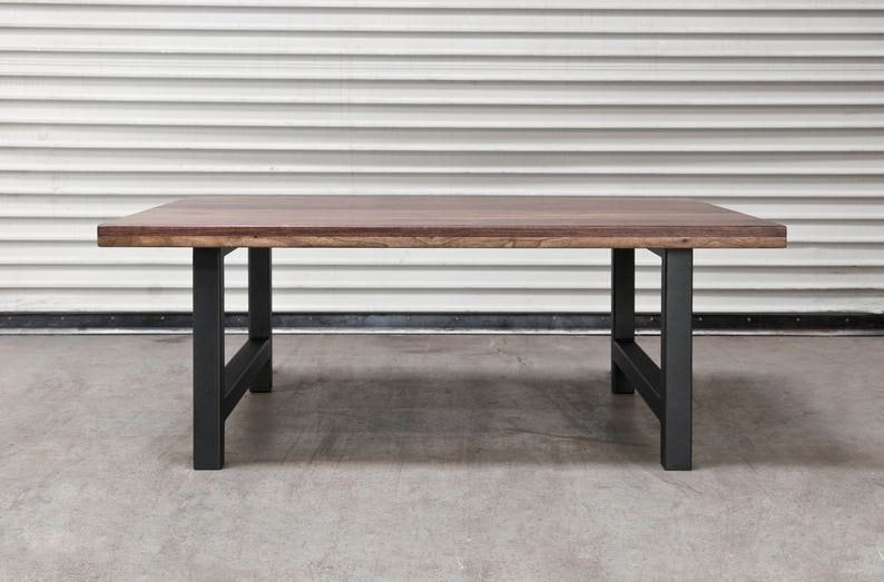 Coffee Table 36 X 24.Custom Coffee Table Rustic Walnut Wood Metal And Wood Table Outdoor Table Any Size Housewarming Gift Powder Coat 36 X24 X16