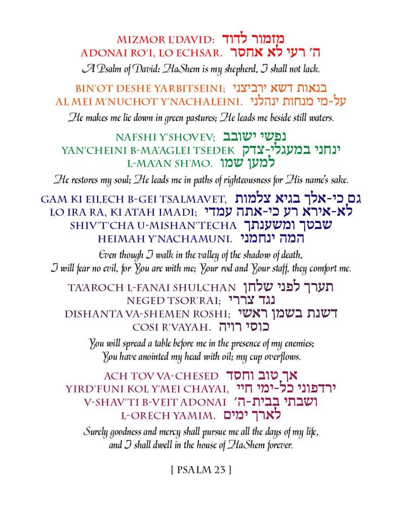 Psalm 23  11x14 Printable image 0