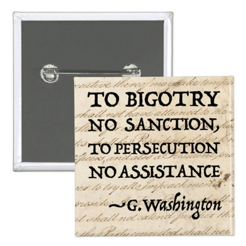 To Persecution No Assistance  Pinback Button image 0