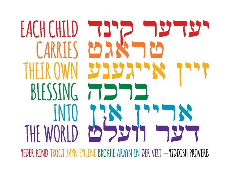 Own Blessing  Yiddish  Printable image 0