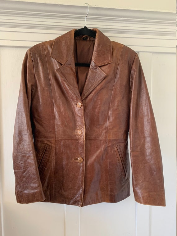 1970s Brown Leather Jacket