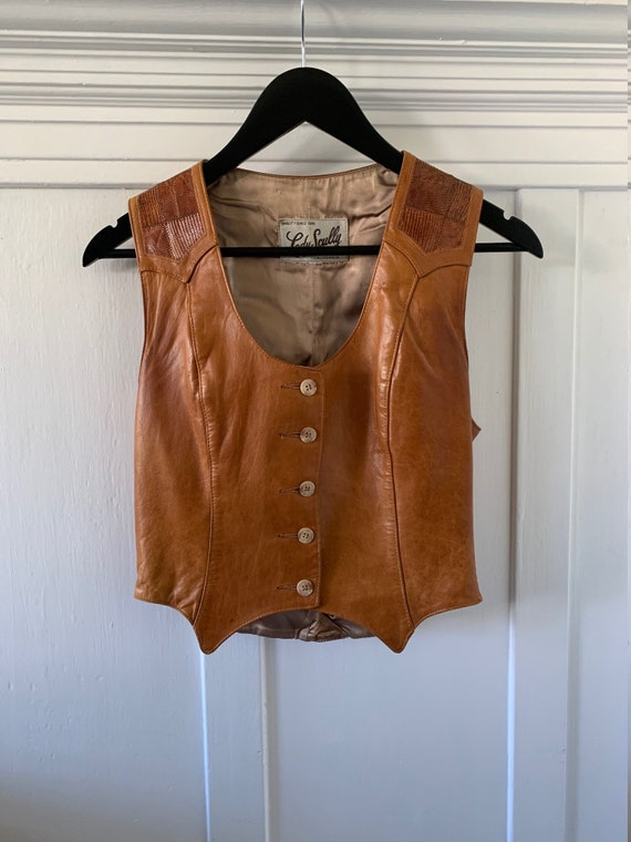 60s Lady Skully leather vest