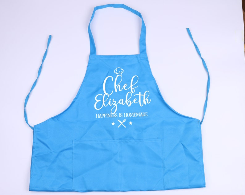 Personalized Apron with Your Custom Text Monogram Chef Bakery Wedding Gift Idea Hostess Mother/'s Day Wifey Husband Grandma Gift for Her