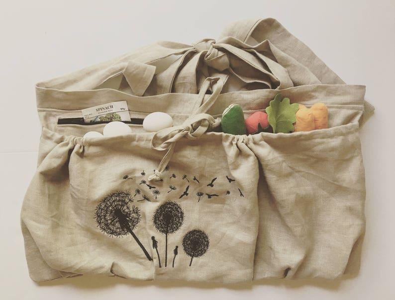 50309fe3aa3 100% Linen Garden apron Harvesting apron Gardening Apron