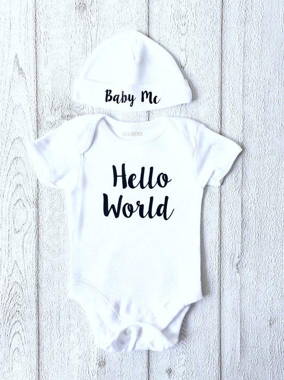 Born In 2019 Personalised Boys Girls Baby Body Suit Newborn Day 0-3 No Tutu