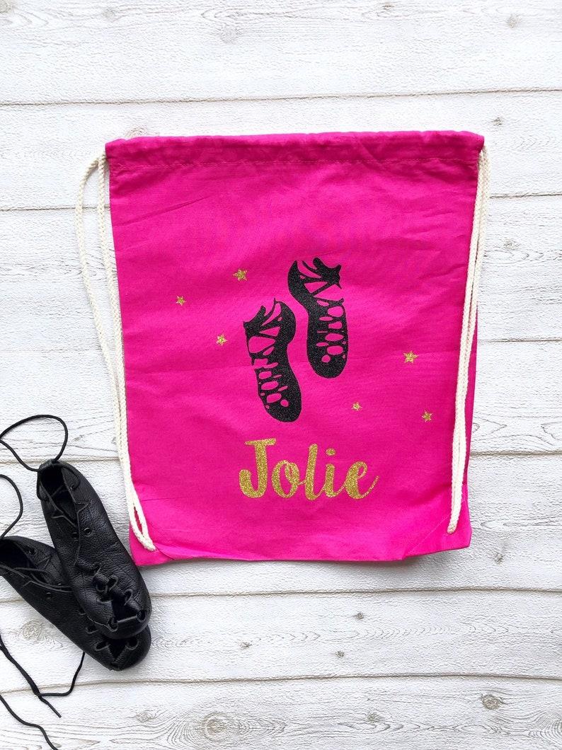 Personalised Irish Dance Bag Girls PE Drawstring Bag Irish image 0