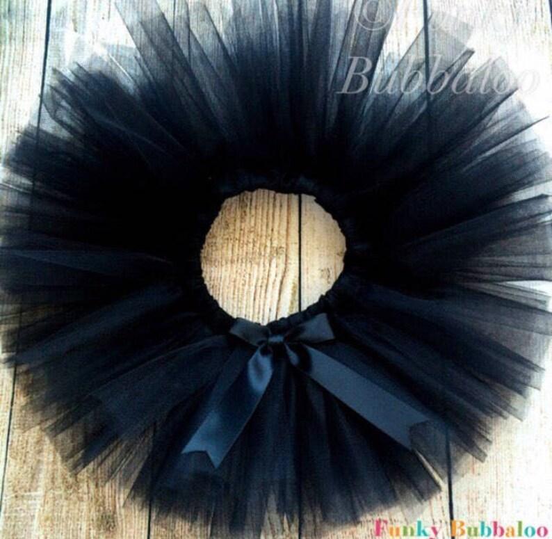 Black Handmade Sewn Tutu Babies Toddlers and Girls Full and image 0
