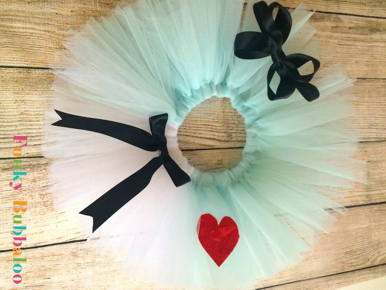 Alice in Wonderland Handmade Sewn Tutu with Matching Headband image 0