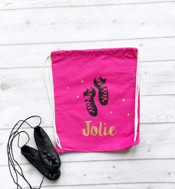 high quality on feet images of new product Personalised Irish Dance Bag, Girls PE Drawstring Bag, Irish Dancing Name  School Dance Present Canvas Cotton Personalized Name Gift Shoe Bag
