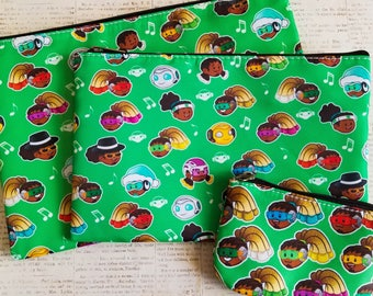 Overwatch Lucio Heads Cosmetic Zipper Bag and Coin Purse